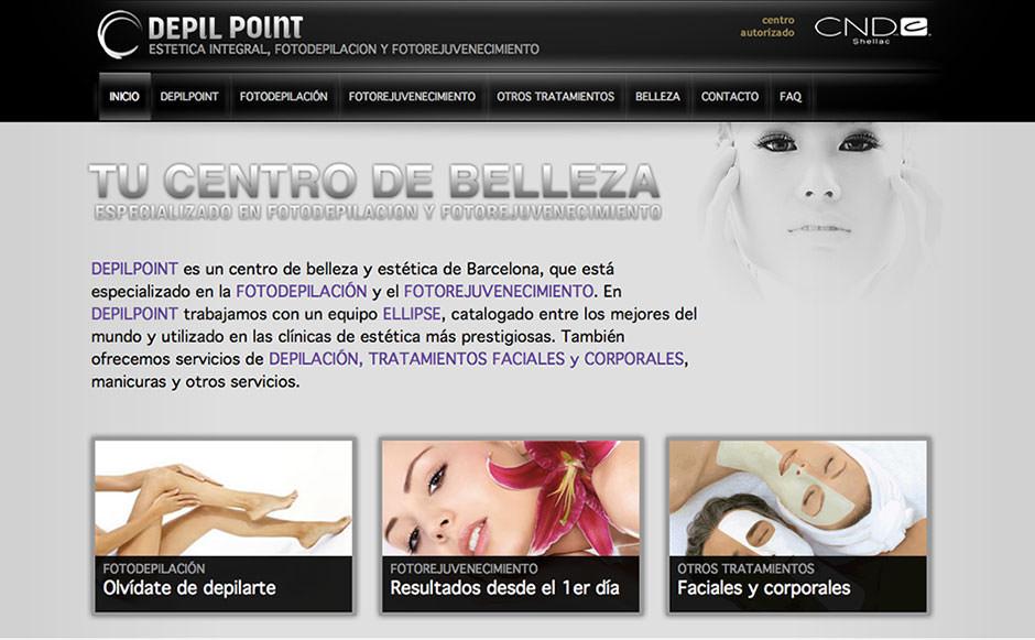 pagina web centro estetica barcelona eduweb