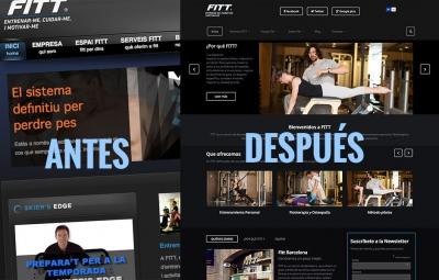 nueva pagina web estudio entrenamiento personal barcelona