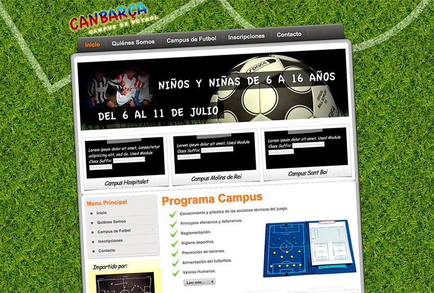 página web campus de futbol barcelona eduweb