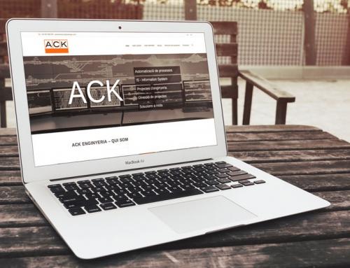 ACK ingeniería con nueva web corporativa