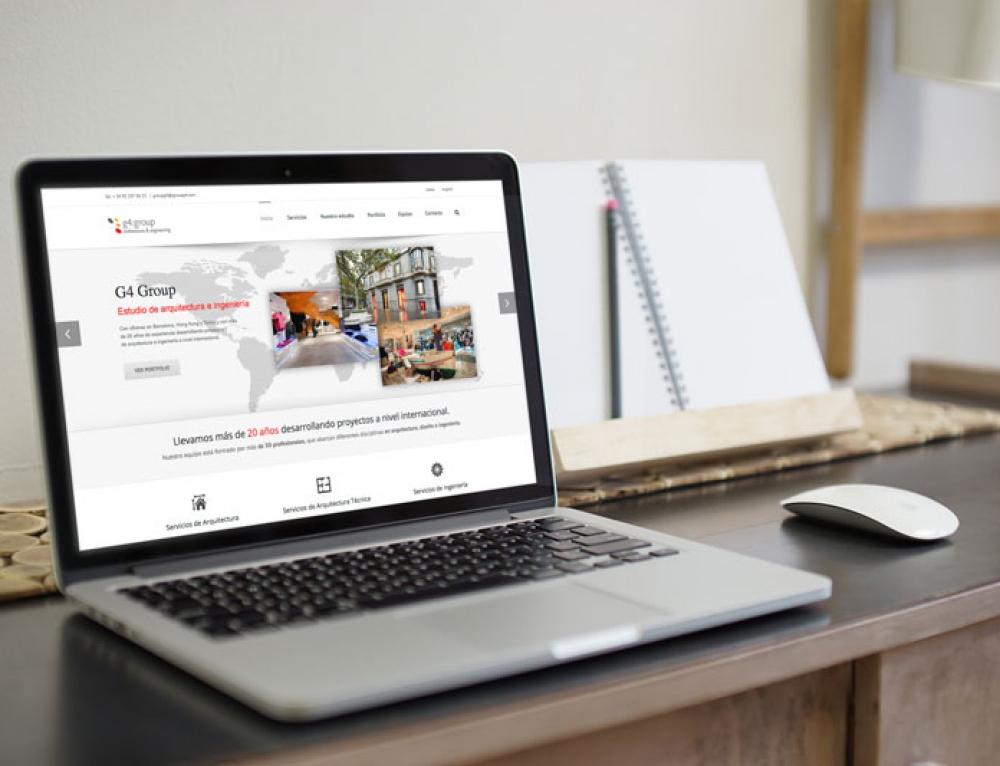 Nueva página web g4 group arquitectos de Barcelona