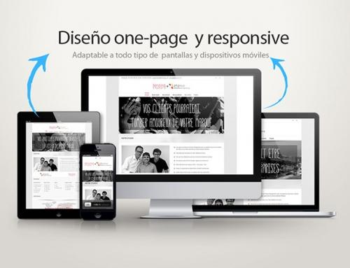 Página web estilo one page para tenzing y g4 arquitectura