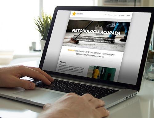 Nueva web one page para empresa de servicios de limpieza