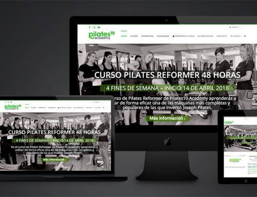Pilates 10 Academy ya con su web y tienda online